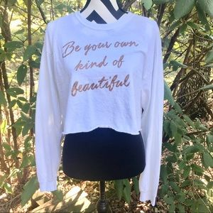 Gold Rush LS Cropped Graphic Tee